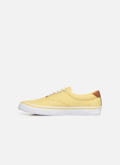 Deportivas Polo Ralph Lauren Thorton Sneaker -Vulc - Washed Twill Amarillo vista de frente