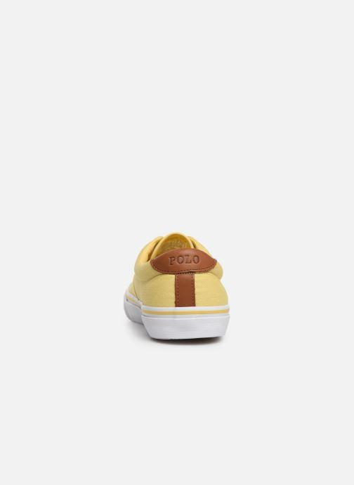 Deportivas Polo Ralph Lauren Thorton Sneaker -Vulc - Washed Twill Amarillo vista lateral derecha