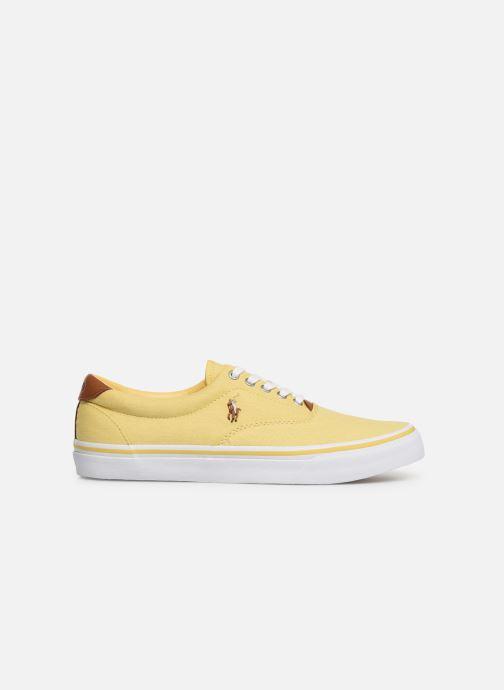 Baskets Polo Ralph Lauren Thorton Sneaker -Vulc - Washed Twill Jaune vue derrière