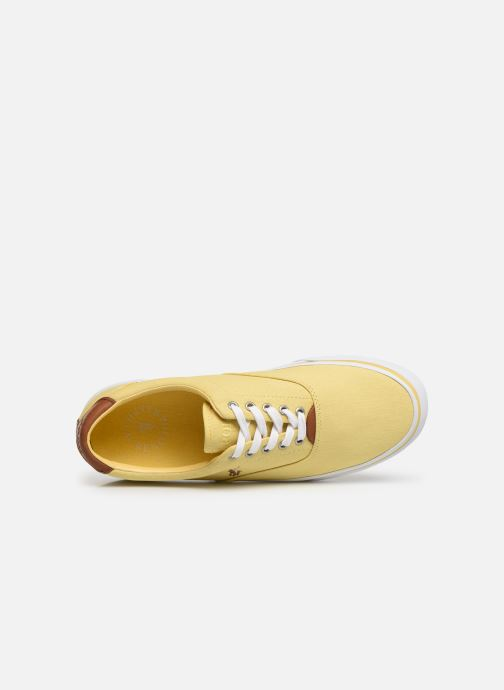 Trainers Polo Ralph Lauren Thorton Sneaker -Vulc - Washed Twill Yellow view from the left