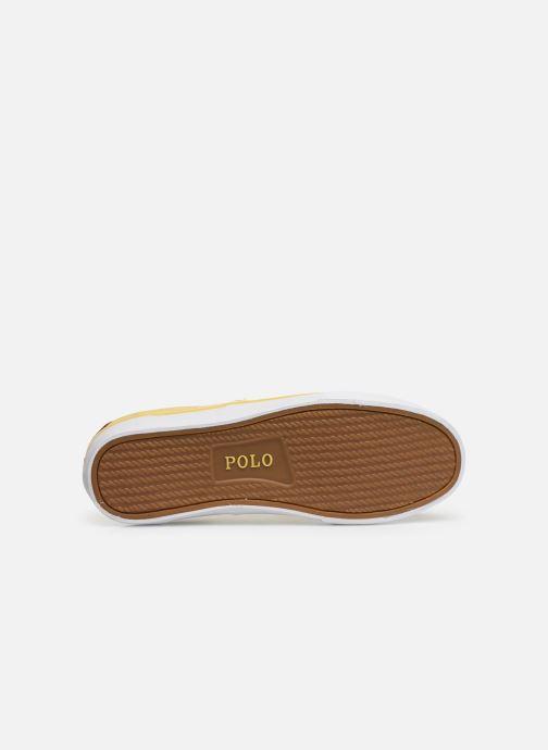 Baskets Polo Ralph Lauren Thorton Sneaker -Vulc - Washed Twill Jaune vue haut