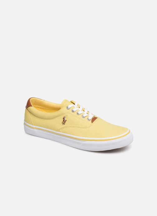 Trainers Polo Ralph Lauren Thorton Sneaker -Vulc - Washed Twill Yellow detailed view/ Pair view