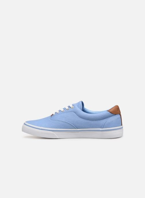 Baskets Polo Ralph Lauren Thorton Sneaker -Vulc - Washed Twill Bleu vue face