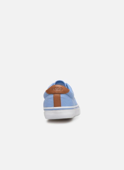 Baskets Polo Ralph Lauren Thorton Sneaker -Vulc - Washed Twill Bleu vue droite