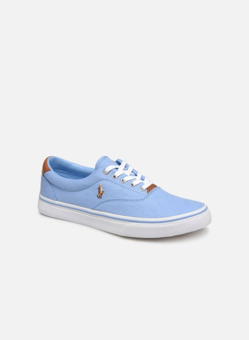 Baskets Polo Ralph Lauren Thorton Sneaker -Vulc - Washed Twill Bleu vue détail/paire
