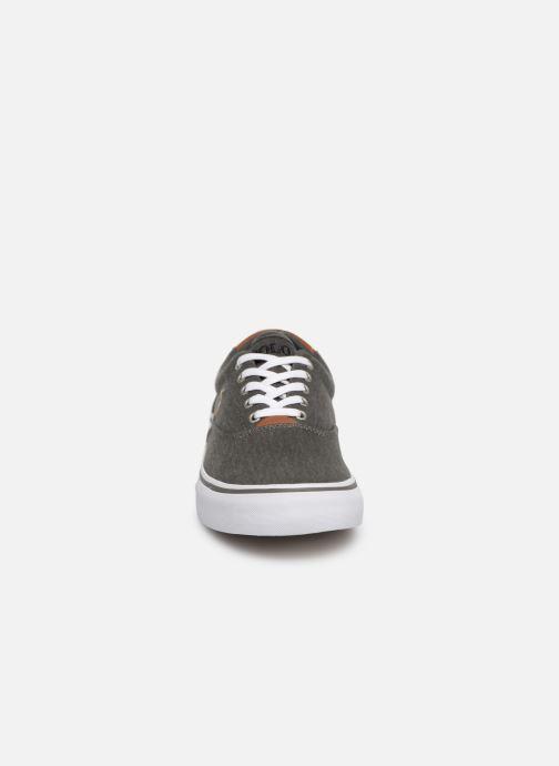 Baskets Polo Ralph Lauren Thorton Sneaker -Vulc - Washed Twill Noir vue portées chaussures