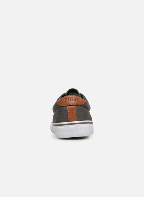 Baskets Polo Ralph Lauren Thorton Sneaker -Vulc - Washed Twill Noir vue droite