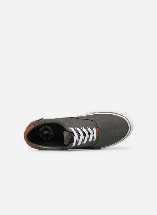 Baskets Polo Ralph Lauren Thorton Sneaker -Vulc - Washed Twill Noir vue gauche