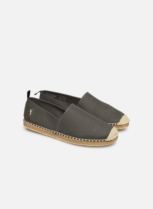 Espadrilles Polo Ralph Lauren Barron-Washed Twill Vert vue 3/4