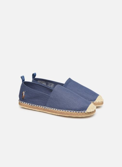 Espadrilles Polo Ralph Lauren Barron-Washed Twill Bleu vue 3/4