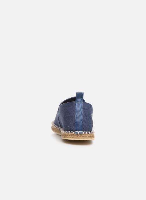 Alpargatas Polo Ralph Lauren Barron-Washed Twill Azul vista lateral derecha