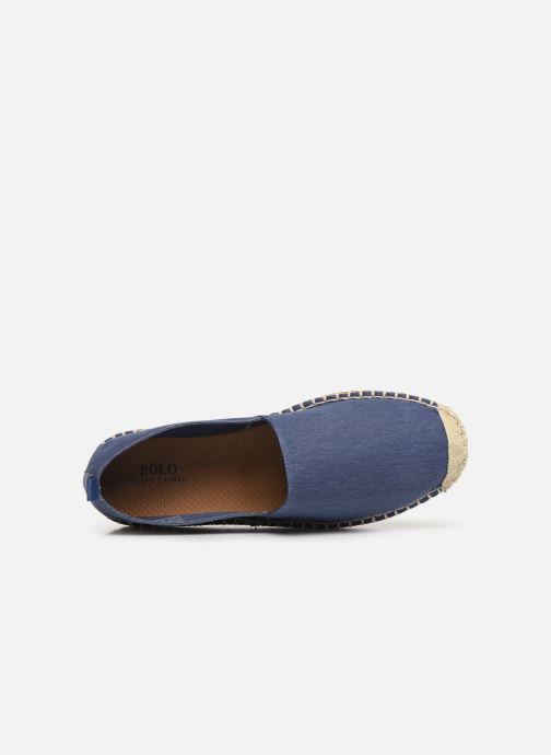 Espadrilles Polo Ralph Lauren Barron-Washed Twill Blue view from the left