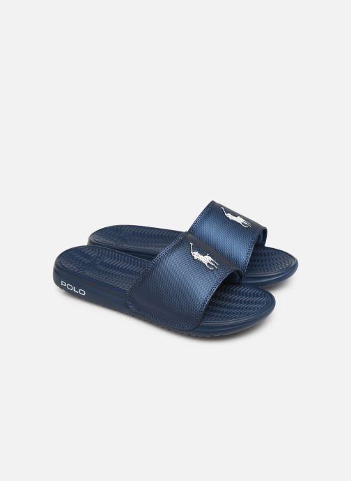 Sandales et nu-pieds Polo Ralph Lauren Rodwell Synthetic Bleu vue 3/4