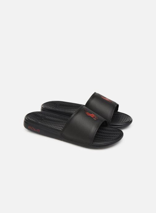 Sandales et nu-pieds Polo Ralph Lauren Rodwell Synthetic Noir vue 3/4