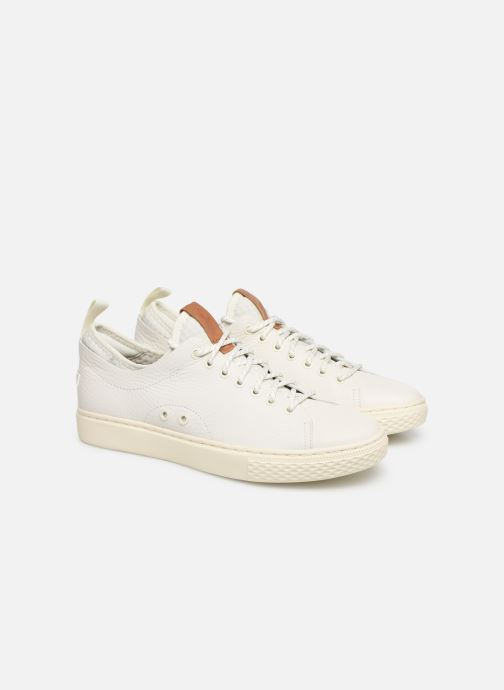 Sneakers Polo Ralph Lauren Dunovin-Small Sport Grain Wit 3/4'