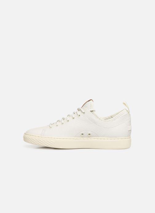 Sneakers Polo Ralph Lauren Dunovin-Small Sport Grain Wit voorkant