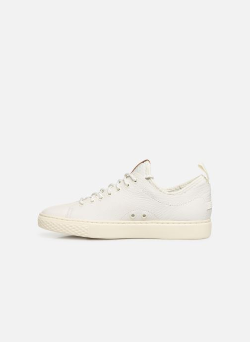 Sneakers Polo Ralph Lauren Dunovin-Small Sport Grain Wit voorkant