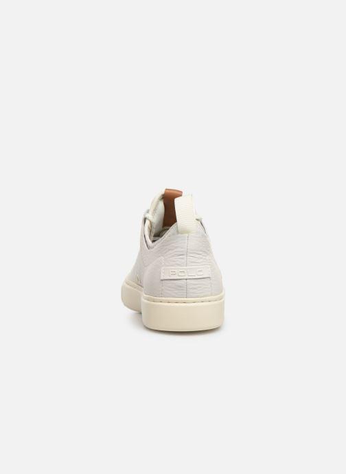 Sneakers Polo Ralph Lauren Dunovin-Small Sport Grain Wit rechts