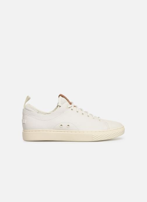 Sneakers Polo Ralph Lauren Dunovin-Small Sport Grain Wit achterkant