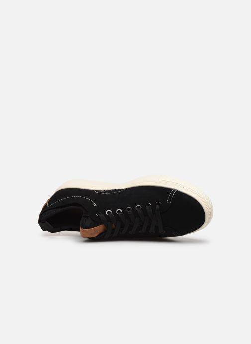 Sneakers Polo Ralph Lauren Dunovin-Small Sport Grain Nero immagine sinistra