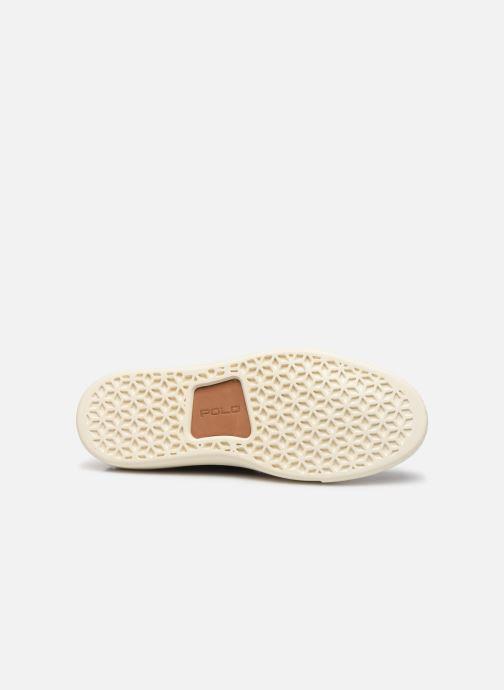 Sneakers Polo Ralph Lauren Dunovin-Small Sport Grain Nero immagine dall'alto