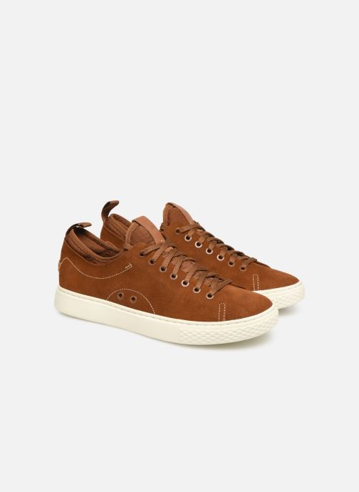 Baskets Polo Ralph Lauren Dunovin-Suede Marron vue 3/4