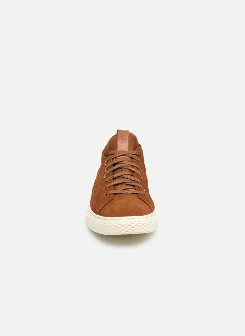 Baskets Polo Ralph Lauren Dunovin-Suede Marron vue portées chaussures