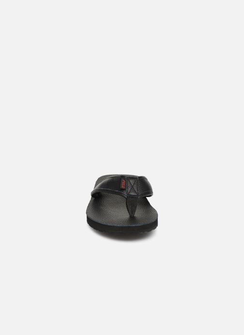 Tongs Polo Ralph Lauren Sullivan III Tumbled Leather Noir vue portées chaussures