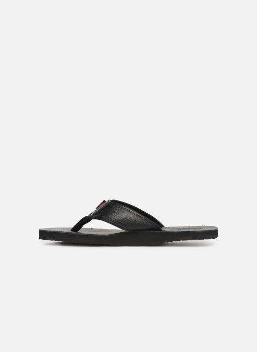 Slippers Polo Ralph Lauren Sullivan III Tumbled Leather Zwart voorkant
