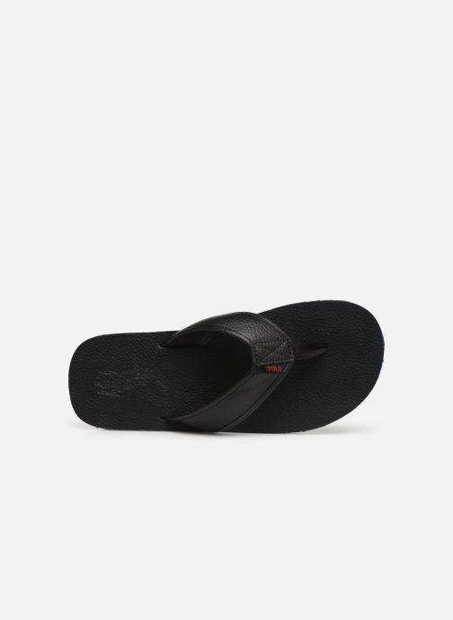 Flip flops Polo Ralph Lauren Sullivan III Tumbled Leather Black view from the left