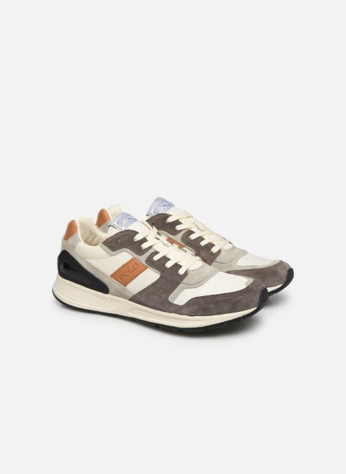 Baskets Polo Ralph Lauren Train 100 CLS-Nylon/Suede Gris vue 3/4