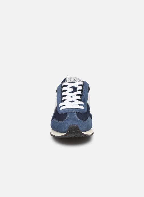 Baskets Polo Ralph Lauren Train 90 -PP Suede Bleu vue portées chaussures