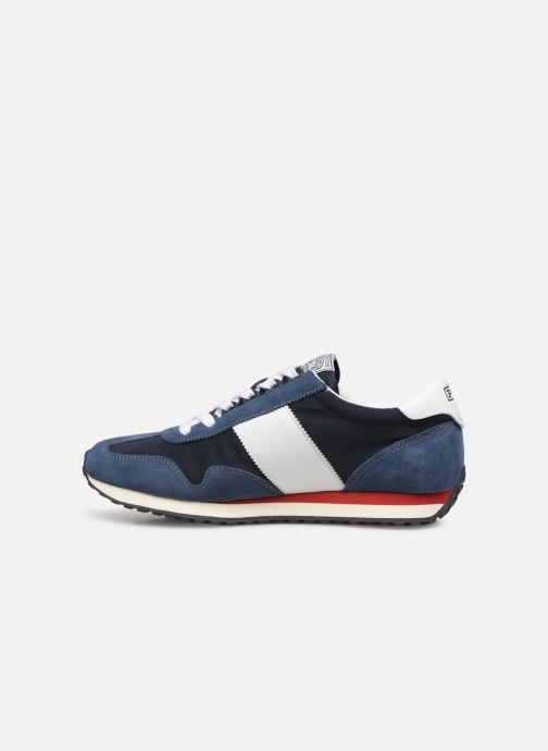 Baskets Polo Ralph Lauren Train 90 -PP Suede Bleu vue face