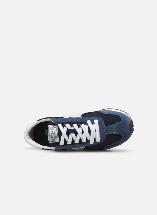 Trainers Polo Ralph Lauren Train 90 -PP Suede Blue view from the left