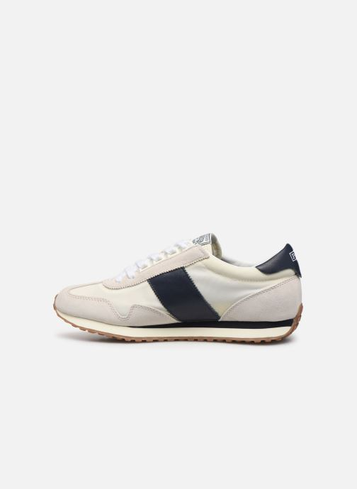 Baskets Polo Ralph Lauren Train 90 -PP Suede Blanc vue face