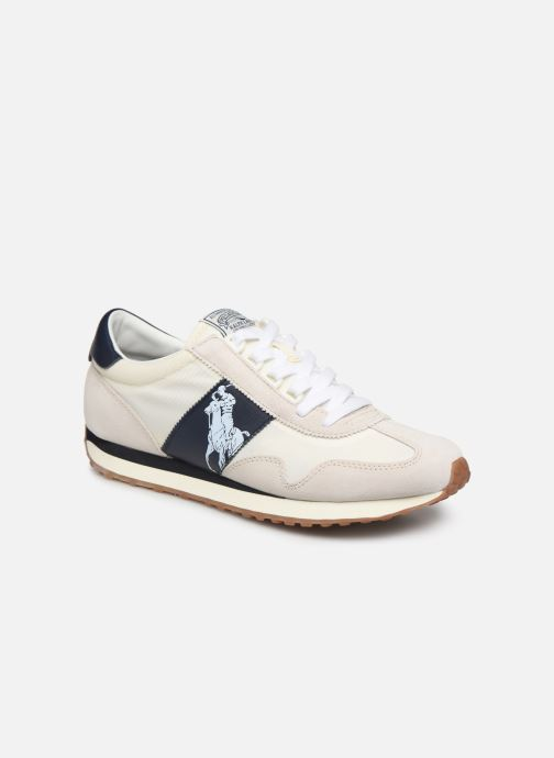 Baskets Polo Ralph Lauren Train 90 -PP Suede Blanc vue détail/paire