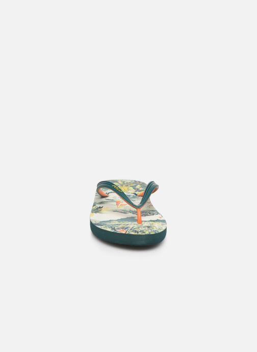 Zehensandalen Polo Ralph Lauren Whtlbury III Eva Print mehrfarbig schuhe getragen