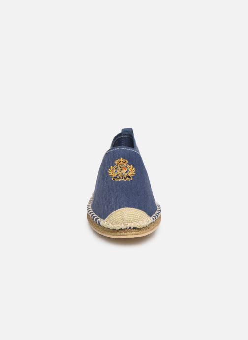Scarpe di corda Polo Ralph Lauren Barron Crest-Washed Twill Azzurro modello indossato