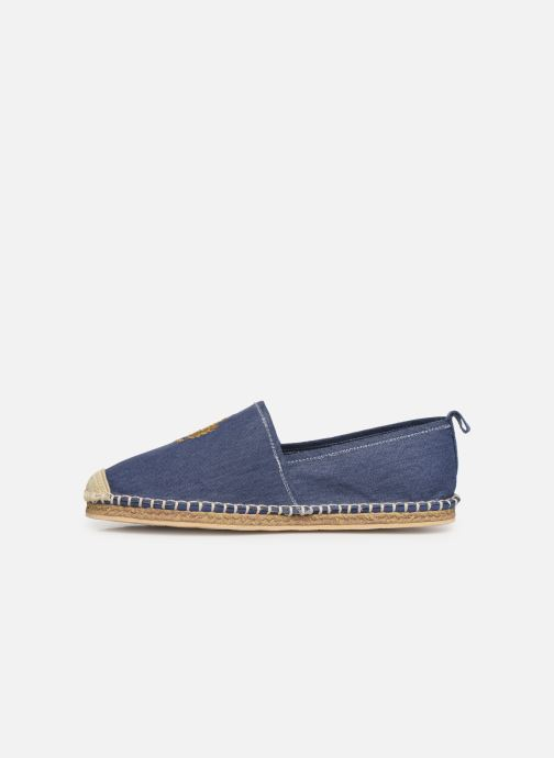 Espadrilles Polo Ralph Lauren Barron Crest-Washed Twill Wit voorkant
