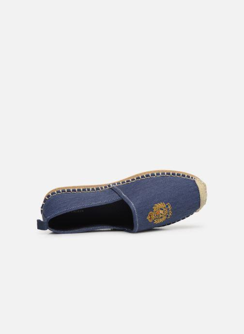 Espadrilles Polo Ralph Lauren Barron Crest-Washed Twill Blanc vue gauche