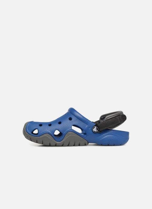 Sandales et nu-pieds Crocs Swiftwater Clog M Bleu vue face