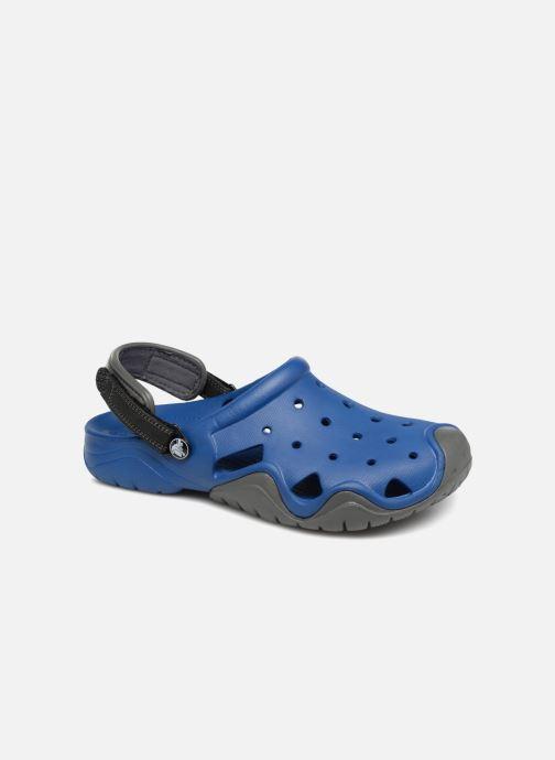 Sandales et nu-pieds Crocs Swiftwater Clog M Bleu vue détail/paire