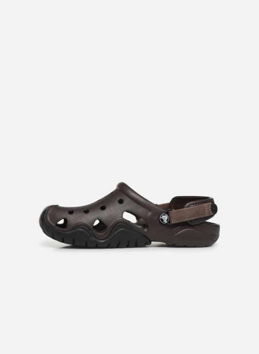 Sandals Crocs Swiftwater Clog M Brown front view