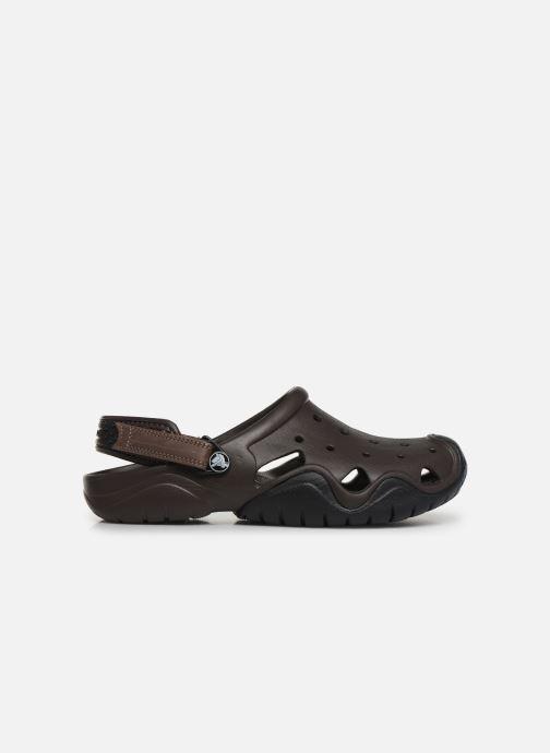Sandales et nu-pieds Crocs Swiftwater Clog M Marron vue derrière
