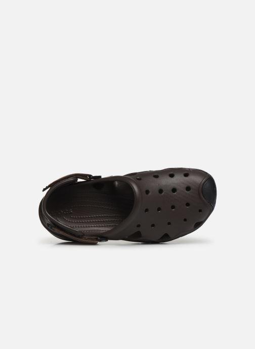 Sandalen Crocs Swiftwater Clog M braun ansicht von links