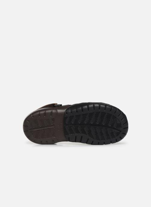 Sandales et nu-pieds Crocs Swiftwater Clog M Marron vue haut