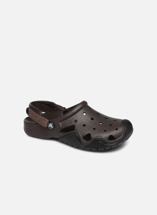 Sandales et nu-pieds Crocs Swiftwater Clog M Marron vue détail/paire