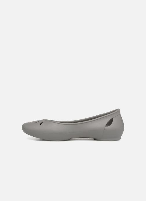 Ballet pumps Crocs Kelli Flat W Grey front view