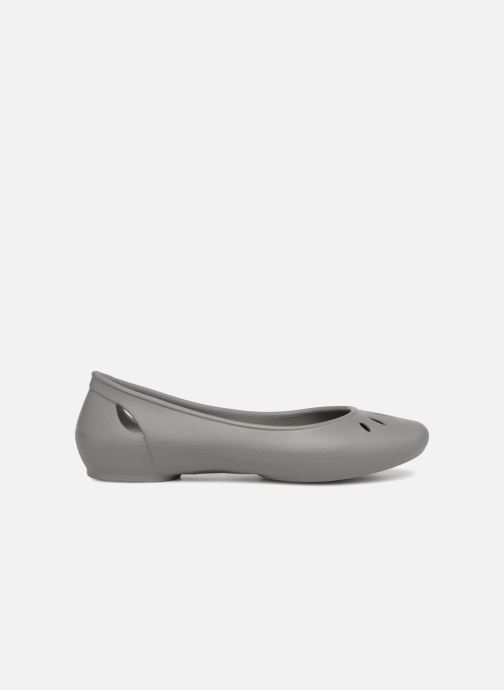 Ballet pumps Crocs Kelli Flat W Grey back view
