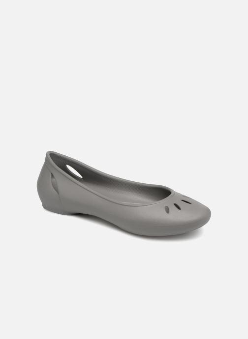 Ballet pumps Crocs Kelli Flat W Grey detailed view/ Pair view